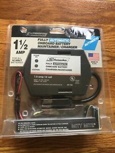 Schumacher 1 5a 12v Automatic Trickle Battery Charger Maintainer 120 V Ac