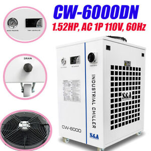 Cw 6000dn Industrial Water Chiller For 100w Solid state Laser 22kw Cnc Spindle