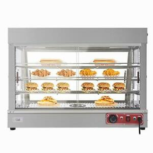 35 Commercial 3 Tiers Food Warmer Display Hot Food Countertop Heated Cabinet