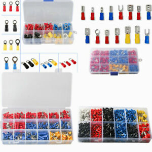 102 1200pcs Insulated Wire Splice Terminals Spade crimp ring Connector Kit