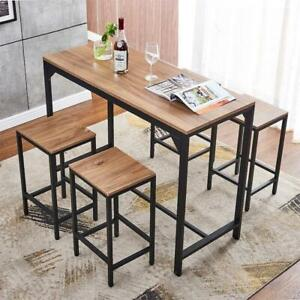 5 Piece Wood Dining Table Set W 4 Chairs Bar Breakfast Kitchen Home Furniture Us