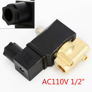 Industrial Grade 1 2 Brass Electric Solenoid Valve Water Air Gas Viton Durable