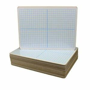 Flipside Products Dry Erase Xy Axis Dry Erase Two Sided Board Set Of 24 Whi