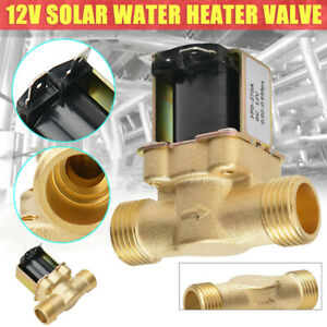Brass Electric Solenoid Valve Switch Water Air N c Dc12v 1 2 Normally Closed Us