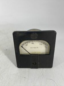 Rare Vintage Ge General Electric Ao 25 Panel Meter 0 150 A c Volts 8ao25 V Y70