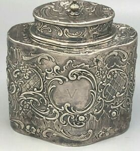 Beautiful Ornate Sterling Silver Cache Pot With English Hallmarks Antique