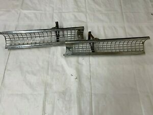 1955 Fairlane Front Grilles Crown Victoria Chrome Grill Brackets Pair