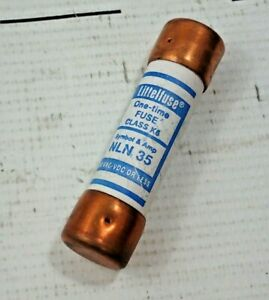 Littlefuse Nln35 One Time Fuse Class K5 250vac 35a Lot Of 5