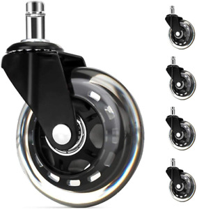 3 In Office Chair Wheels Black S Swivel Chair Casters For All Floors Including