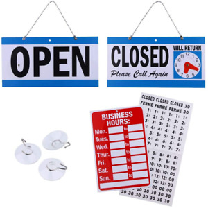 Business Hour Closed Open Sign Bundle Of Office Hours Sign Will Return Clock