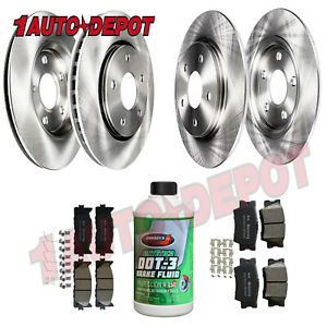 Front Rear Brake Rotors Ceramic Pads For 2007 2008 2009 2012 Toyota Camry Avalon