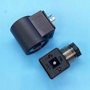 6306012 Solenoid Valve Coil Fit Hydraforce 3 Prong Din Connector 12v Dc Size 08