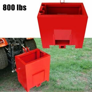 Heavy Duty Durable Ballast Box For 3 Point Category 1 Tractors 800lbs Steels Red