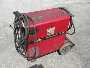 Lincoln Electric Power Mig 255c Welder W Leads Good Working