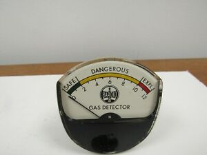 Baroid Oil Well Gas Detector Warning Guage Safe Dangerous Explosion Steam Punk