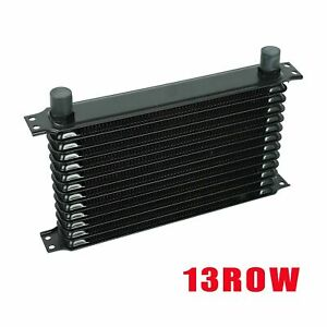 All Aluminum Engine Oil Cooler Black Universal 13 Row 10an Transmission