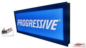 Progressive Signs Insurance Sign Led Light Box Sign Double Sided