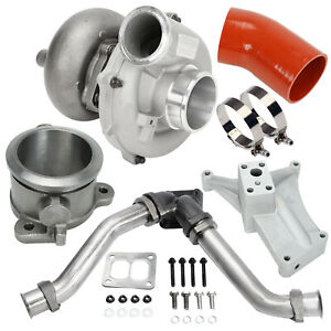 For 94 97 Ford 7 3l Turbo Charger Kit Pedestal Exhaust Housing Up Pipes Air Hose