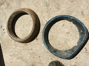 Vintage Unknown Headlight Bezels 1940s 1950s 1960s Car Ford Chevrolet Buick