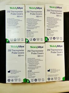 6 Boxes Of 250 Welch Allyn Oral Thermometer Probe Covers 05031 10 Packs Of 25