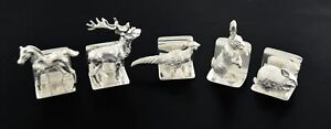 Scully Scully J B Chatterly Sons Sterling Silver Animal Place Card Holders
