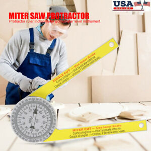 Miter Saw Protractor Dial Accurate Angle Finder With Laser engraved Scales Tools