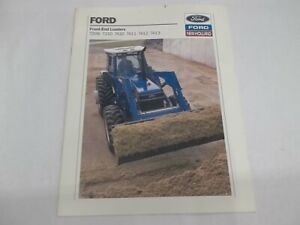 Ford New Holland Front end Loaders 7209 7210 7410 7411 7412 7413 Brochure