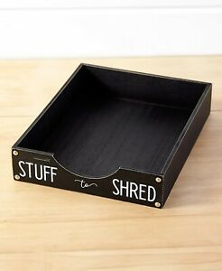 Desk Storage Document Shred Paper Tray Organizer Working From Home Office Decor