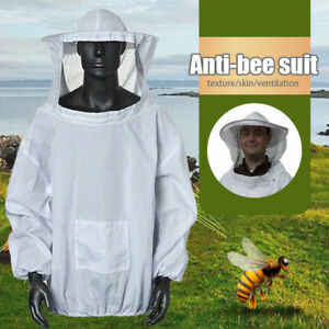 Protective Beekeeping Jacket Hat Veil Suit Smock Outdoor Anti mosquito Outfit