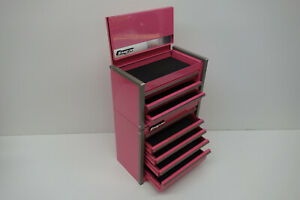 Snap On Micro Roll Cab Bottom Amp Top Chest Set Mini Tool Box Pink Brand New