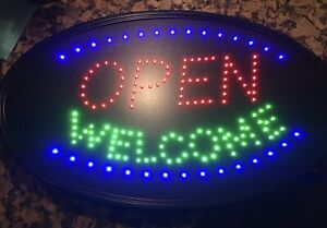 Post Virus Led 3 Mode Neon Sign Open Business Welcome 23 X 14 Extra Large