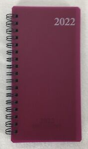 2022 Weekly Monthly Spiral Pocket Planner Calendar Agenda Appointment Book 3 x6