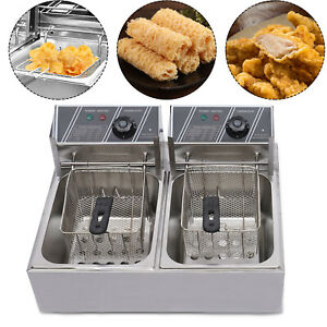 Commercial Electric Countertop Deep Fryer Single Tank 12l 5000w For French Fries