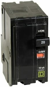 New Square D Qo220 2 pole 20 A Plug in Circuit Breakers New