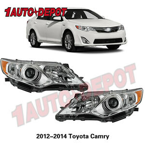 For 2012 2013 2014 Toyota Camry Projector Headlights Headlamps Left Right