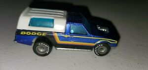 1979 Hot Wheels Dodge Blue Truck With Camper And Goodyear Tires