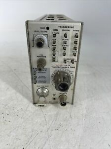 Tektronix 7b51 Delaying Time Base Trace Amplifier Plug in Module Parts Or Repair