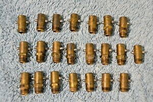 Lot Of 24 Antique Vintage Brass Alemite Grease Fittings Hit Miss Engine Model T