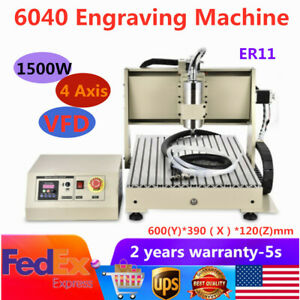 Usb 4axis Cnc 6040 Router Engraver Engraving Woodwork Cutting Milling Machine