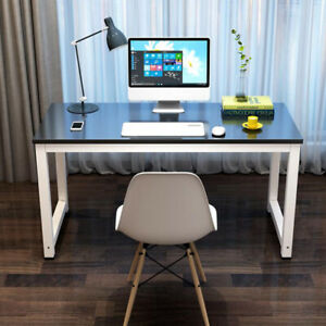 Wooden Computer Desk Pc Laptop Table Student Workstation Home Office Furniture