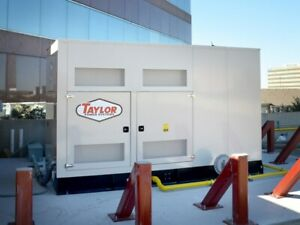 Taylor Tg200 200kw Natural Gas lp Powered Standby Generators 79 Hours