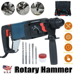 800w Heavy Duty Electric Rotary Hammer Drill Come With Sds Plus Bit Chisel Set