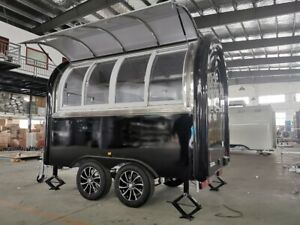 Mobile Food Cart Trailer ready To Ship Stainless Steel Model