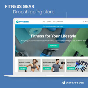 Fitness Gear Store Premade Dropshipping Website Turnkey Business For Sale