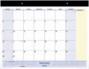 2022 Desk Calendar By At a glance Monthly Desk Pad 22 X 17 Standard Quickn