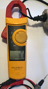 Fluke 333 Digital Clamp Meter Ac 400a Ac dc 600v with Lead used good Condition