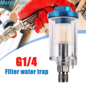 For Pneumatic Spray Gun G1 4 Air Line Filter Water Trap Clear Painting Moisture