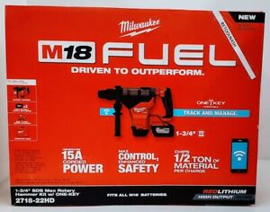 Milwaukee 2718 22hd M18 Fuel 1 3 4 Sds max Rotary Hammer Kit W 1 key Compatible