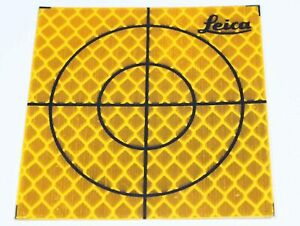 100 pack 20mm X 20mm Reflective Tape Survey Targets yellow