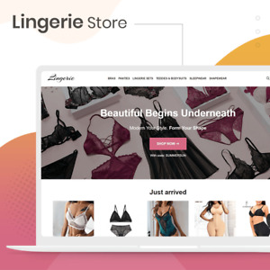 Lingerie Dropshipping Store Professional Website Turnkey Business For Sale